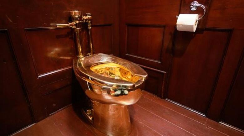 Откраднаха най-скъпата тоалетна чиния в света
