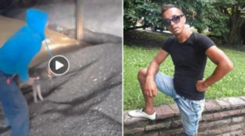 Садист дрогаджия издевателства над куче, Фейсбук го издирва