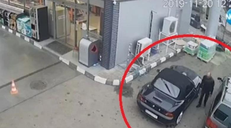 Гъзар с луксозно кабрио краде антифриз на столична бензиностанция