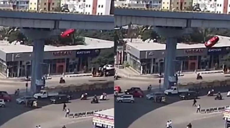 Кола падна от надлез и сплеска жена до смърт