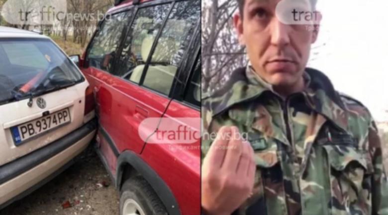 Пиян военен, помлял три автомобила, опитва да се измъкне – жабурил бил вода за уста