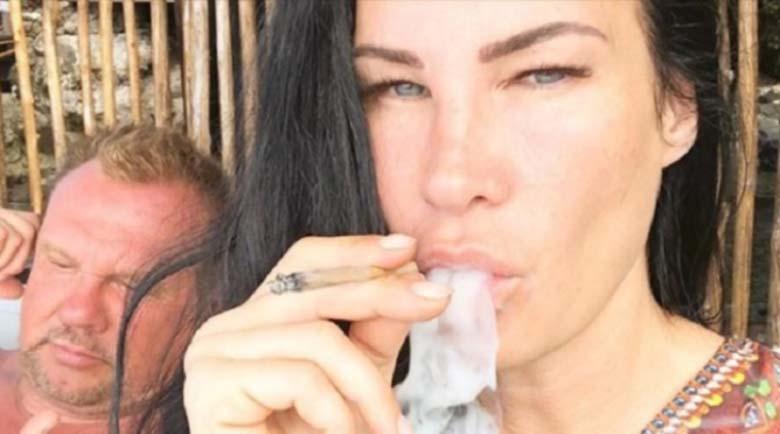 Щрак! Цеци Красимирова пуши марихуана