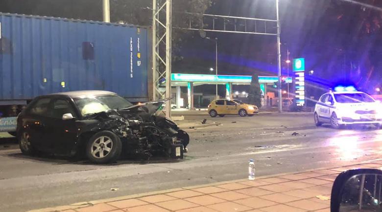 """Тежка катастрофа на """"Цариградско шосе"""" в Пловдив"""