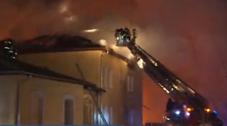 Пламна сградата на психодиспансера в София