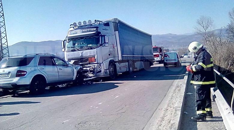 Жестока катастрофа край Благоевград, един ранен