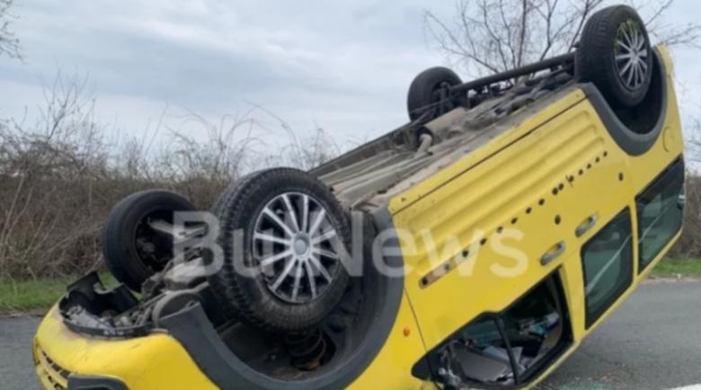 Зрелищна катастрофа с джип край Враца