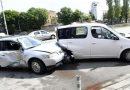 Верижна катастрофа между тролей и 6 коли затапи столично кръстовище
