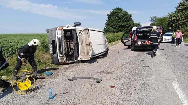 Жена пострада в катастрофа с румънски бус на пътя Бяла – Плевен