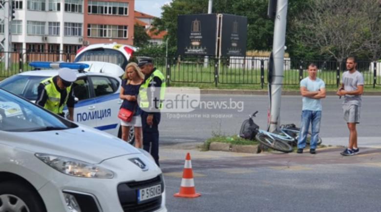 6-годишно блъснато днес в Пловдив, шофьорът правил обратен завой