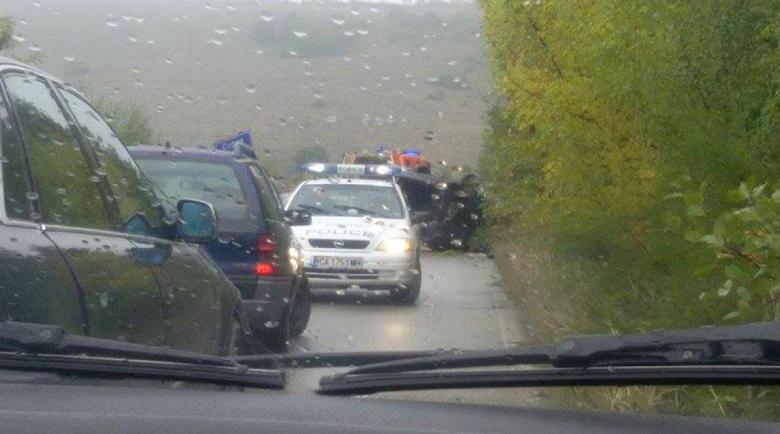 """Наркоман с """"Ауди"""" блъсна две коли и избяга край Костинброд"""