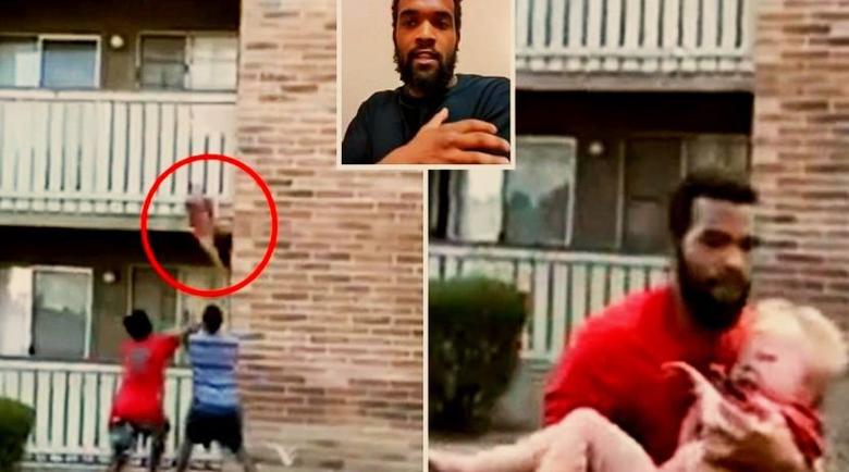 Невероятно! Мъж хвана падащо от 15 метра малко дете, майката загина
