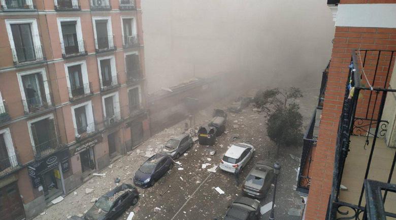 Страшна експлозия в центъра на Мадрид