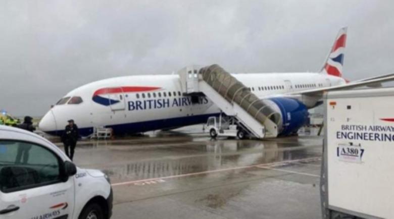Самолет на British Airways се заби по нос на Хийтроу